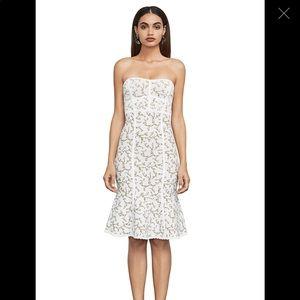 BCBG Lynne Jacquard Strapless Dress NWT
